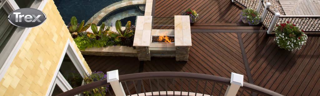 decks and porches custom bulit with rainy creek and trex