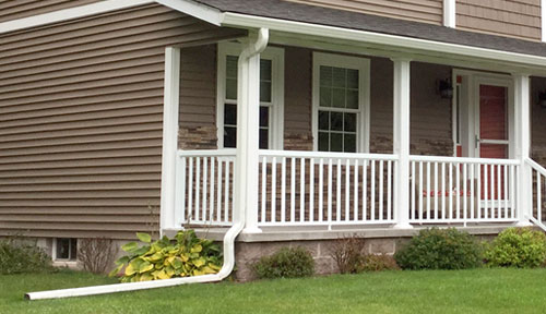 Seamless gutter systems featuring Diamond Back Covers in Marquette county and surronding area